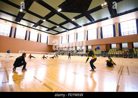 Ohme City general gymnasium, Tokyo, Japan. 21st Nov, 2015. General View, NOVEMBER 21, 2015 - Goalball : 2015 Japan Goalball Championships at Ohme City general gymnasium, Tokyo, Japan. Credit:  Shingo Ito/AFLO SPORT/Alamy Live News Stock Photo