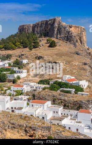 Lindos Acropolis - Stock Photo
