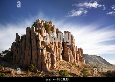 Tercer Cañada in the Sierra de Organos, Zacatecas, Mexico. - Stock Photo