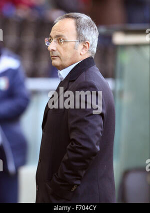 Udine, Italy. 22nd November, 2015. Franco Soldati, Udinese's President during the Italian Serie A football match - Stock Photo