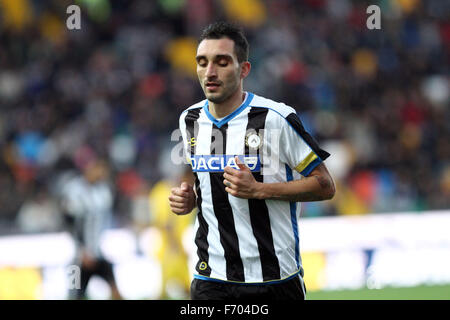 Udine, Italy. 22nd November, 2015. Udinese's midfielder Francesco Lodi during the Italian Serie A football match - Stock Photo
