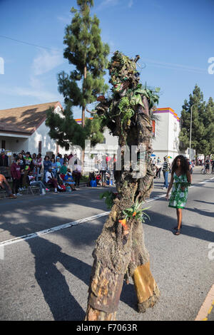 Los Angeles, California, USA, January 19, 2015, 30th annual Martin Luther King Jr. Kingdom Day Parade, Tree People - Stock Photo