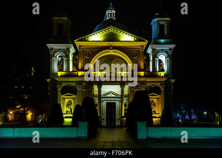 Saint Anne's Church in Wilanow District at Night - Stock Photo