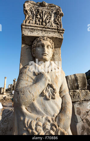 Hercules Gate in Ephesus, an ancient Greek city on the coast of Ionia, - Stock Photo