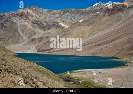 Chandratal lake, himachal pradesh, india, asia - Stock Photo