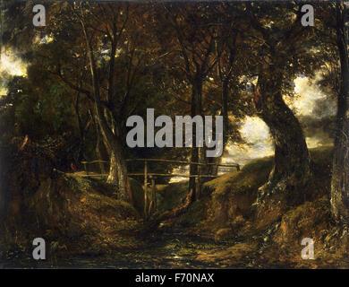 John Constable - Dell at Helmingham Park - Stock Photo