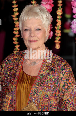 Feb 17, 2015 - London, England, UK - Dame Judi Dench at The Royal Film Performance: 'The Second Best Exotic Marigold - Stock Photo