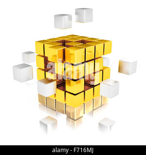 Teamwork abstrace concept - Stock Photo