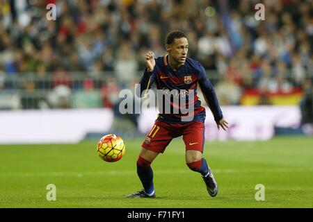 Madrid, Spain. 21st Nov, 2015. Neymar (Barcelona) Football/Soccer : Spanish 'Liga BBVA' match between Real Madrid - Stock Photo