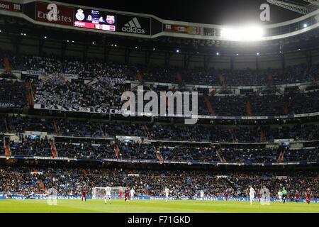 Madrid, Spain. 21st Nov, 2015. General view Football/Soccer : Spanish 'Liga BBVA' match between Real Madrid CF 0 - Stock Photo