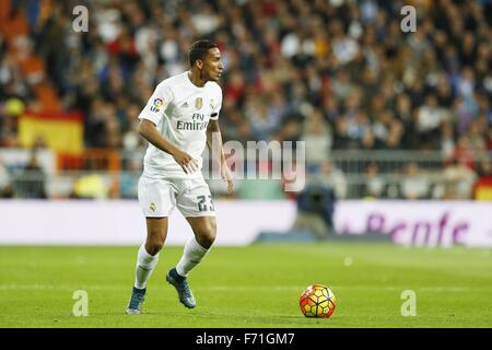 Madrid, Spain. 21st Nov, 2015. Danilo (Real) Football/Soccer : Spanish 'Liga BBVA' match between Real Madrid CF - Stock Photo