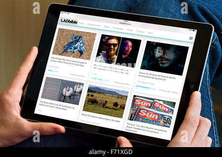 The Lad Bible website viewed on an Apple iPad Air - Stock Photo