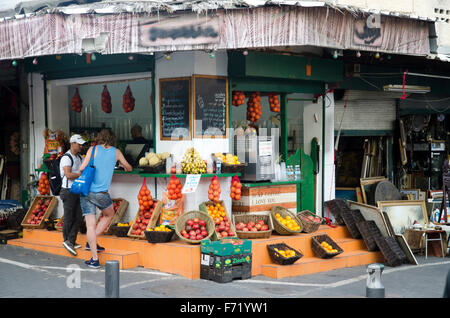 A juice stall in Jaffa's old town, Israel - Stock Photo