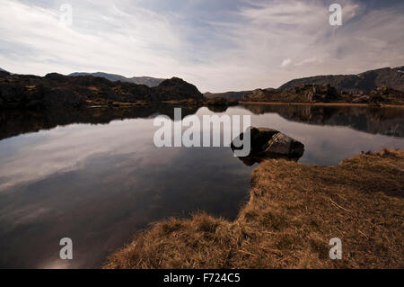 Innominate Tarn on Hay Stacks in the Lake District National Park.