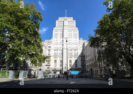 Senate House is the central building for the University of London, Bloomsbury, London, England, United Kingdom. - Stock Photo