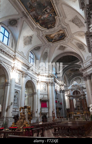 Chiesa di Santa Maria del Rosario or Gesuati church in Venice, Italy - Stock Photo