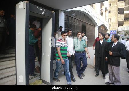 Nov. 24, 2015 - Dhaka, Bangladesh - Bangladeshi police accused five men over the murder of Japanese citizen Hiyori - Stock Photo