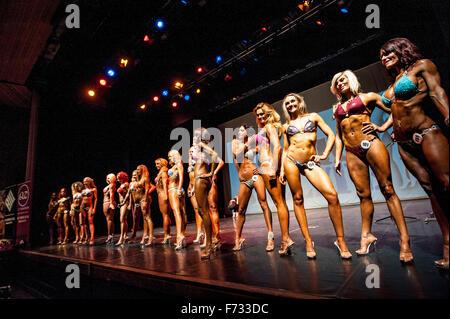 Female fitness models parade in bikini's at The Pure Elite ...