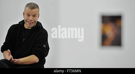 Ceske Budejovice, Czech Republic. 24th Nov, 2015. The first-ever Czech exhibition by artist Wolfgang Tillmans (pictured) - Stock Photo