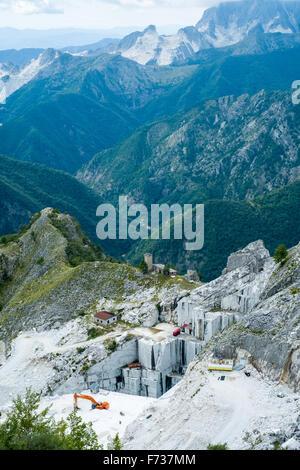 Marble quarry near Massa Carrara, Italy Stock Photo
