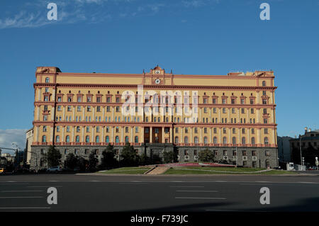The former Lubyanka Prison and now the FSB HQ, Moscow, Russia. - Stock Photo