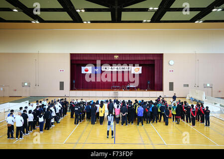 Ohme City general gymnasium, Tokyo, Japan. 21st Nov, 2015. General View, NOVEMBER 21, 2015 - Goalball : 2015 Japan Goalball Championships Opening Ceremony at Ohme City general gymnasium, Tokyo, Japan. © Shingo Ito/AFLO SPORT/Alamy Live News Stock Photo