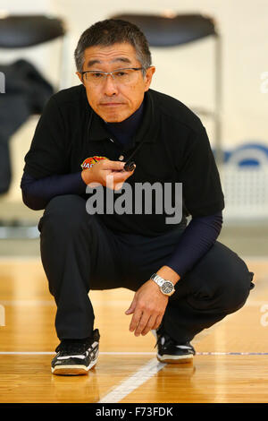 Ohme City general gymnasium, Tokyo, Japan. 21st Nov, 2015. Referee, NOVEMBER 21, 2015 - Goalball : 2015 Japan Goalball Championships at Ohme City general gymnasium, Tokyo, Japan. © Shingo Ito/AFLO SPORT/Alamy Live News Stock Photo