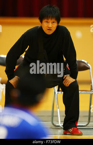 Ohme City general gymnasium, Tokyo, Japan. 21st Nov, 2015. Kyoichi Ichikawa, NOVEMBER 21, 2015 - Goalball : 2015 Japan Goalball Championships at Ohme City general gymnasium, Tokyo, Japan. © Shingo Ito/AFLO SPORT/Alamy Live News Stock Photo