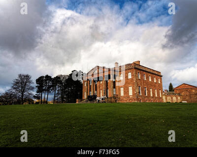 Berrington Hall is a country house located about 3 miles north of Leominster, Herefordshire, England, with gardens - Stock Photo