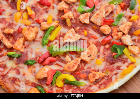 Image of a tasty bbq pizza - Stock Photo