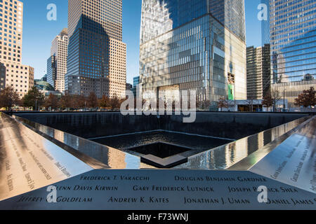 Northern Pool, National September 11 Memorial & Museum, Lower Manhattan, New York, USA - Stock Photo