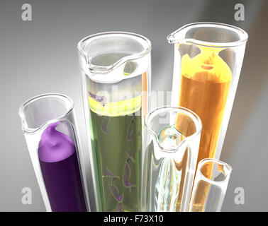 test-tubes detail.Concept of chemistry - Stock Photo