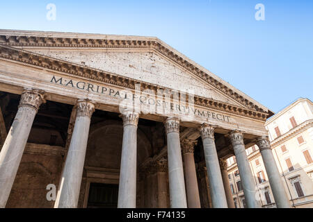 Roman Architecture Columns the facade of the pantheon in rome: columns and the pediment in a