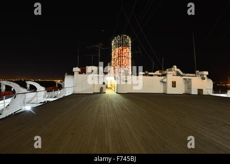 RMS Queen Mary at Long Beach Los Angeles. - Stock Photo