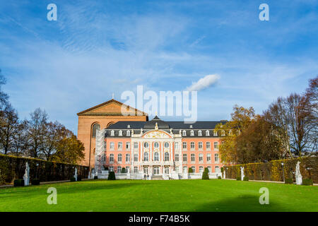 Electoral Palace in Trier in autumn, Germany - Stock Photo