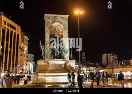 On Taksim place in Istanbul - Stock Photo