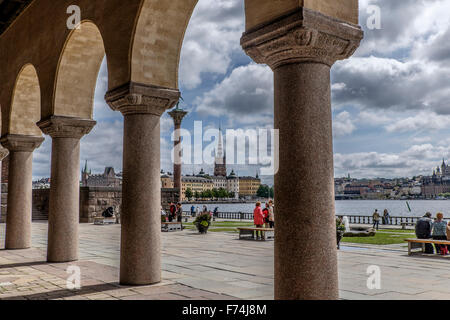 A view from the City Hall in Stockholm,Sweden - Stock Photo