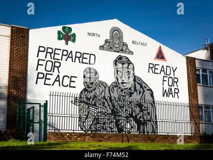 UVF mural in Mount Vernon, North Belfast. - Stock Photo