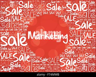 MARKETING word cloud background, business concept - Stock Photo
