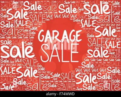 GARAGE SALE word cloud background, business concept - Stock Photo