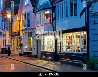 Shops in Faversham, Kent, England UK - Stock Photo