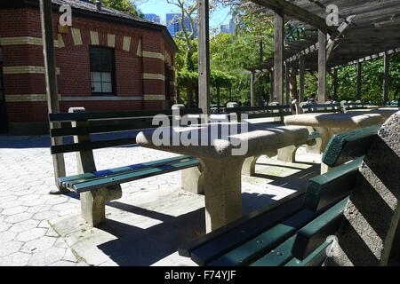 Chess & Checkers House in Central Park - Stock Photo