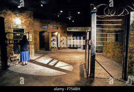 The Museum of Tolerance features Holocaust memorials and is part of the Simon Wiesenthal Center in Los Angeles, - Stock Photo