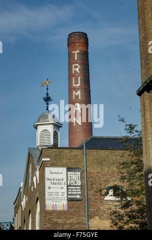 Truman Brewery Brick Lane London - Stock Photo