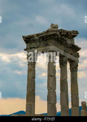 incredible views of the ancient city of Pergamon, Turkey - Stock Photo