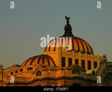 The Palacio de Bella Artes, Mexico City - Stock Photo