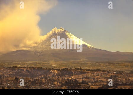 Cotopaxi Volcano Is The Second Highest Summit In Ecuador, South America - Stock Photo