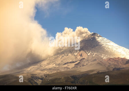 Cotopaxi Volcano, Has One Of The Few Equatorial Glacier In The World, South America - Stock Photo