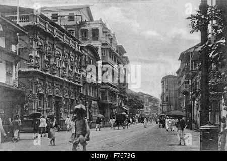 aad 194319 - Old vintage 1900s Dwarkadheesh Krishna Temple kalbadevi, mumbai, maharashtra, india, asia - Stock Photo