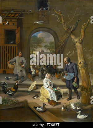 Jan Steen - Portrait of Jacoba Maria van Wassenaer, known as 'The Poultry Yard' - Stock Photo